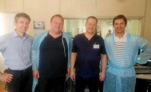 Подготовка к первой в СПб операции по имплантации фенестрированного стент-графта