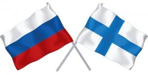 русский и финские флаги